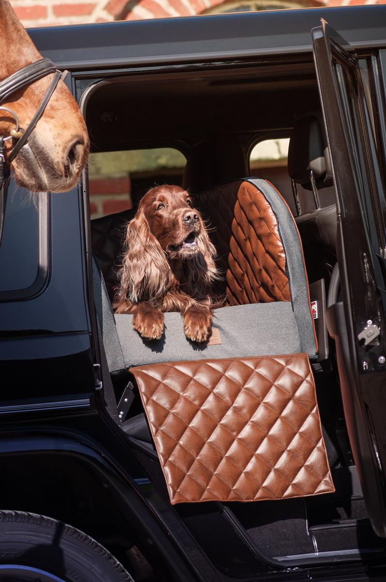 DOGSTYLER® für die Rückbank LANDART - für mittelgroße und große Hunde bis ca. 40 kg