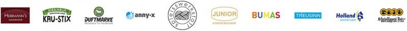 Hermann's Manufaktur | Hirschalm Kau-Stix | Duftmarke | AnnyX | Spleisswerkstatt | junior Hundebedarf | BUMAS | TREUSINN | Holland Animal Care | Intelligent Pets