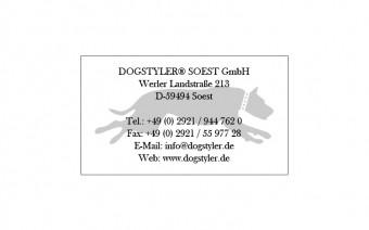Aufkleber DOGSTYLER Whitebook